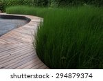 Wooden Bridge In Garden