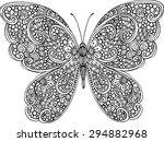 hand drawn ornamental butterfly ... | Shutterstock .eps vector #294882968