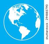 earth globe symbol | Shutterstock .eps vector #294883790