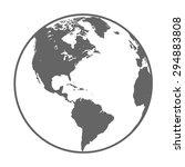 earth globe symbol | Shutterstock .eps vector #294883808