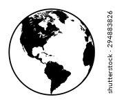 earth globe symbol   Shutterstock .eps vector #294883826