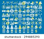 business icon set. these flat... | Shutterstock . vector #294885293