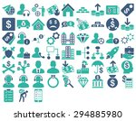 commerce icon set. these flat... | Shutterstock .eps vector #294885980