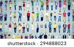 multiethnic casual people... | Shutterstock . vector #294888023