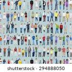 multiethnic casual people... | Shutterstock . vector #294888050