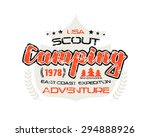 scout camping emblem with... | Shutterstock .eps vector #294888926