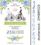 wedding  watercolor invitation...   Shutterstock .eps vector #294889223