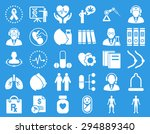 medical icon set. these flat... | Shutterstock .eps vector #294889340