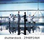 business people handshake... | Shutterstock . vector #294891464
