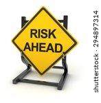 Road Sign   Risk Ahead   3d...
