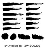 grunge vector textured brush... | Shutterstock .eps vector #294900209
