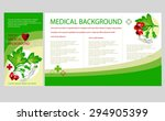 medical background with herb... | Shutterstock .eps vector #294905399