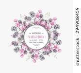 round flower composition.... | Shutterstock .eps vector #294908459