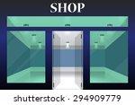 shop front. exterior horizontal ... | Shutterstock .eps vector #294909779
