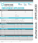 customizable employment job... | Shutterstock .eps vector #294913430