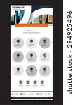 one page website design for... | Shutterstock .eps vector #294925496