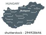 hungary map   Shutterstock .eps vector #294928646