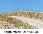 Ancient Stone Wall Along A Dirt ...