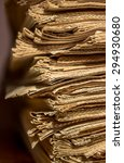 pile of old newspapers on the... | Shutterstock . vector #294930680