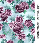 hand drawn flowers repeatable... | Shutterstock . vector #294933104