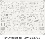 big collection of vector hand... | Shutterstock .eps vector #294933713