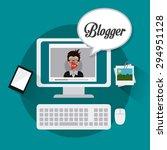 blogger digital design  vector... | Shutterstock .eps vector #294951128