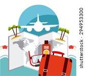 summer vacations design  vector ... | Shutterstock .eps vector #294953300