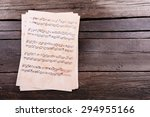 Music Sheets On Wooden...