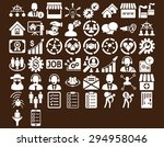 business icon set. these flat... | Shutterstock . vector #294958046