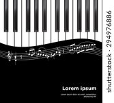 vector piano on black ... | Shutterstock .eps vector #294976886