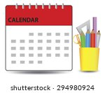 generic calendar with cup... | Shutterstock .eps vector #294980924