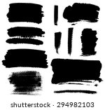set of grunge vector textured... | Shutterstock .eps vector #294982103