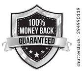 chrome 100  money back... | Shutterstock .eps vector #294990119