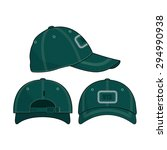 green baseball cap cotton twill