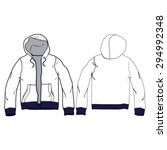 men white hoodie vector template