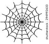 spider web on white background. ... | Shutterstock .eps vector #294992633