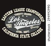 california t shirt fashion... | Shutterstock .eps vector #294992990