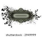 abstract floral frame with... | Shutterstock .eps vector #2949999
