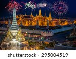 grand palace and wat phra keaw... | Shutterstock . vector #295004519