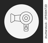 hair dryer line icon | Shutterstock .eps vector #295004720