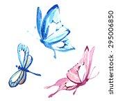 butterflies design | Shutterstock .eps vector #295006850