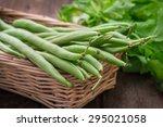 Green Beans In Wicker Basket