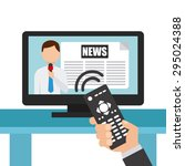 news concept design  vector... | Shutterstock .eps vector #295024388