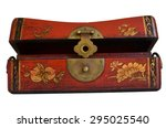 a vintage beautiful jewelry box | Shutterstock . vector #295025540
