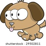 alien dog vector illustration | Shutterstock .eps vector #29502811