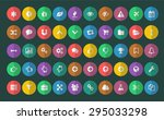 simple flat style icons  on... | Shutterstock .eps vector #295033298