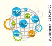 programming language design ... | Shutterstock .eps vector #295034420