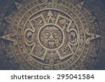 Mayan Calendar With Retro...