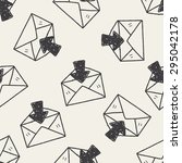 mail doodle seamless pattern...   Shutterstock .eps vector #295042178