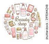 glamorous hand drawn card... | Shutterstock .eps vector #295044248